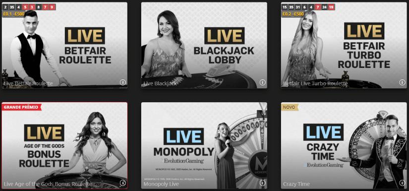 jogos de cassino ao vivo na betfair
