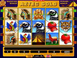caça niquel aztec gold