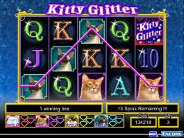 caça niquel kitty glitter