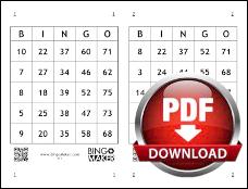 cartela de bingo para imprimir gratis com 75 numeros e 2 cartoes por pagina em pdf