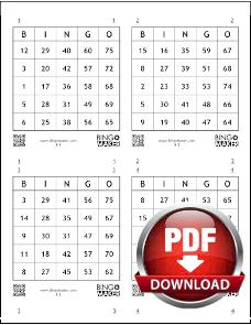 cartela de bingo para imprimir gratis com 75 numeros e 4 cartoes por pagina em pdf