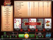 jogo de casino joker wild online