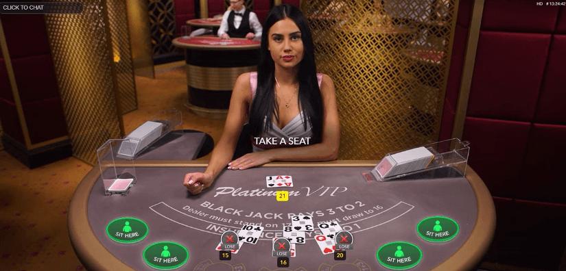 cassino ao vivo com blackjack online