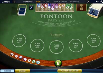 pontoon blackjack online