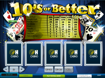 video poker 10's or Better