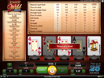 Video Poker Joker Wild