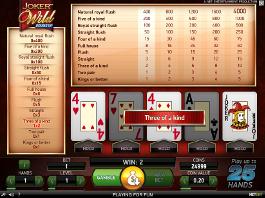 Video Poker Joker Wild