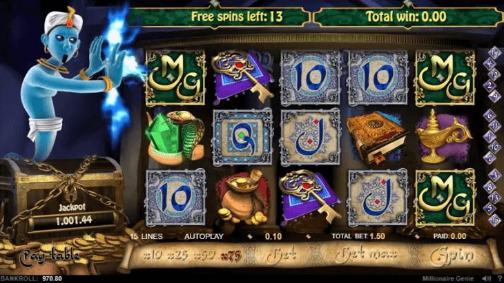 millionaire genie jackpot do jogo
