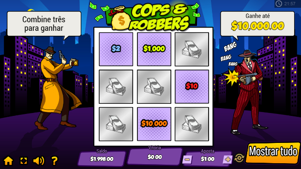 raspadinhas online cops and robbers