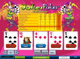 video poker joker poker